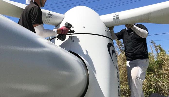 株式会社グリーズ風力発電所施工写真