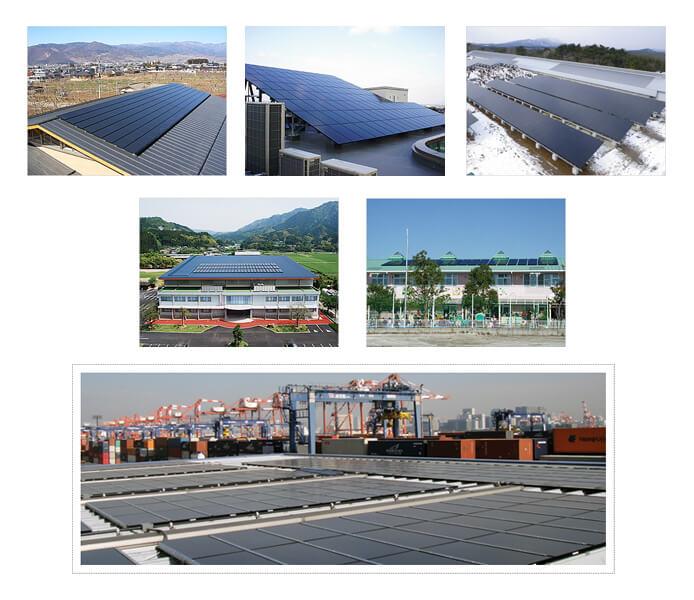 ソーラーフロンティアの小規模~中規模太陽光発電の設置事例