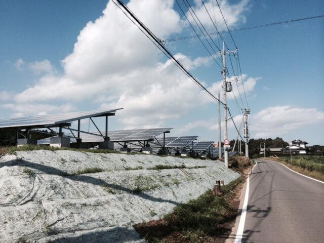 茨城県笠間市 低圧分譲太陽光発電 現況写真1
