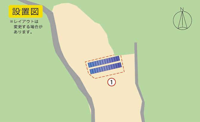 宮崎県 51kW 低圧分譲太陽光発電 設置図