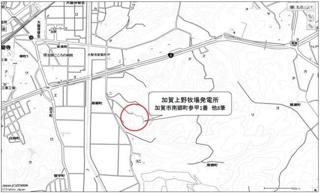 石川県加賀市 分譲太陽光発電所 設置場所