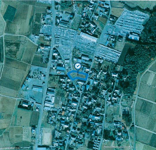茨城県桜川市 54kw 航空写真