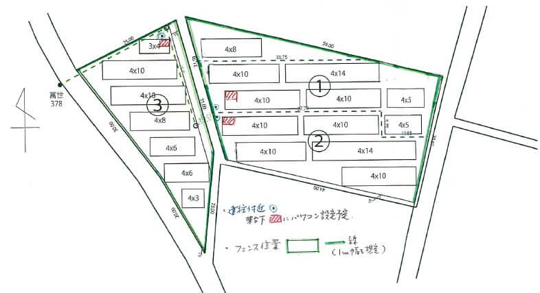 茨城県桜川市 54kw レイアウト図