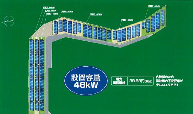 【シャープ製・完工・連系待ち】栃木県那須塩原市 46kW 設置イメージ