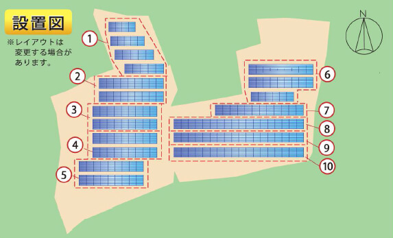鹿児島県伊佐市10区画一括 レイアウト図