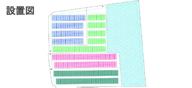 【36円】埼玉県熊谷市 4区画 57.0kW 設置図