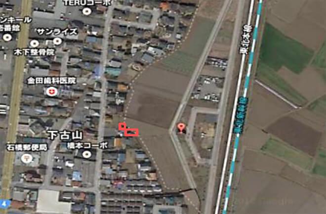 【27円・11月連系】栃木県 太陽光ビレッジ④ 12.985kW 航空写真
