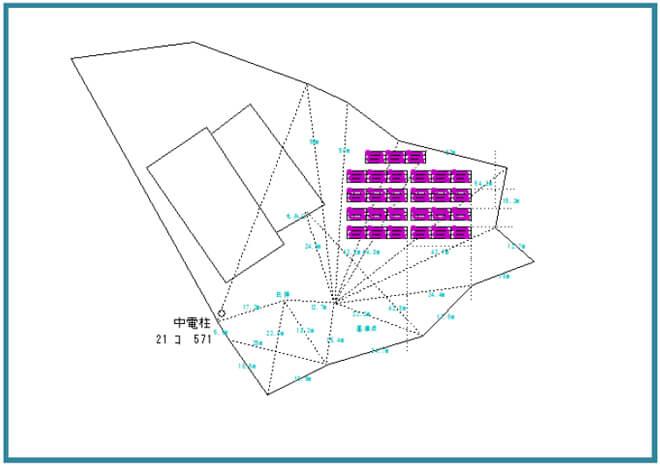 【1月連系・28円】岐阜県恵那市 60.75kW 区画配置図