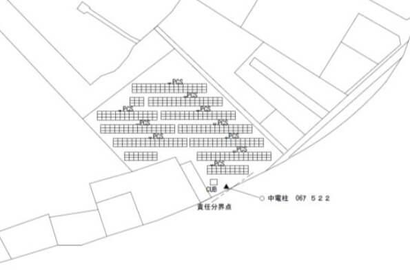 【32円・3月連系】岐阜県岐阜市 120kW 区画配置図