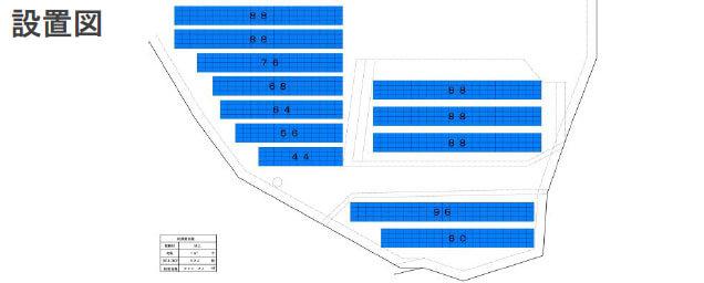 【27円・11月連系】高圧240kW 広島県東広島市二神山 配置図