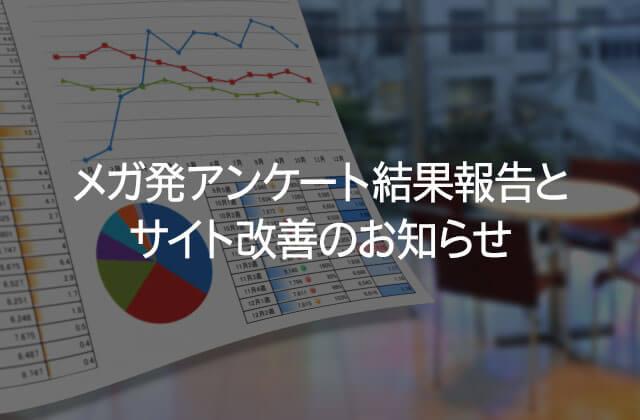 メガ発アンケート結果報告とサイト改善のお知らせ
