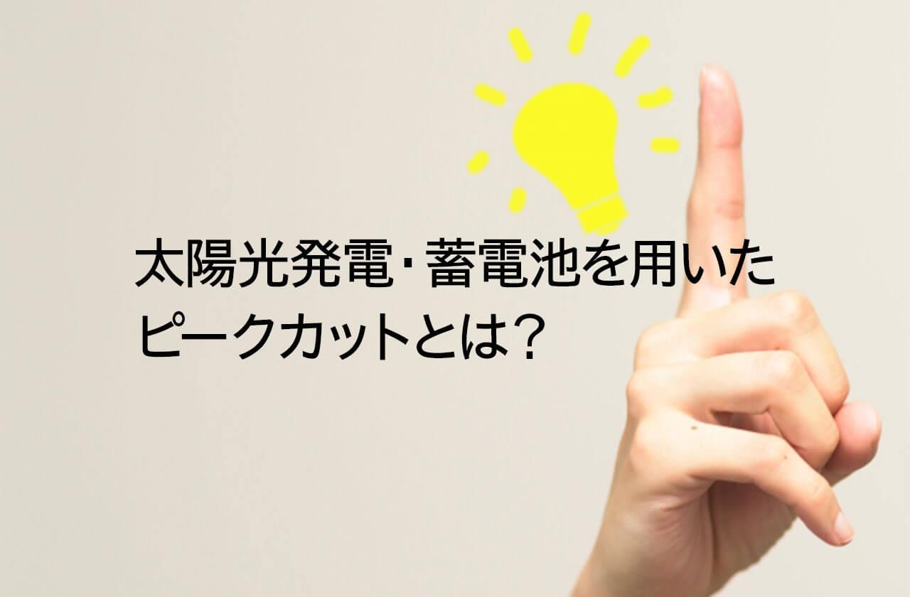 【電気料金削減】太陽光発電・蓄電池を用いたピークカットとは?【契約電力】