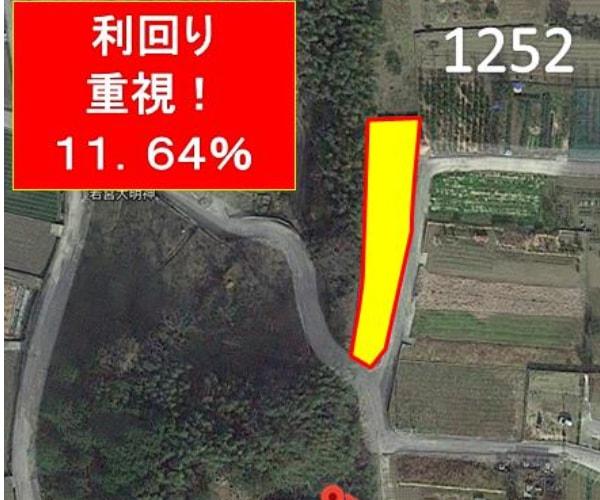 【14円】低圧62kW 利回り11%以上 年収入約108万円 徳島県吉野川市1252土地付き分譲太陽光発電物件