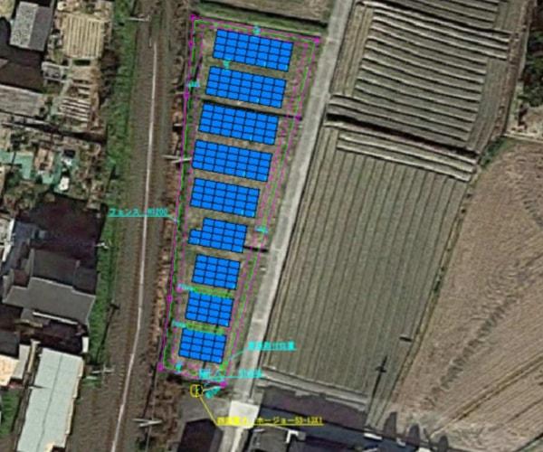 【18円】低圧63.63kW ローン可能 年収入約154万円 愛媛県松山市1180土地付き分譲太陽光発電物件