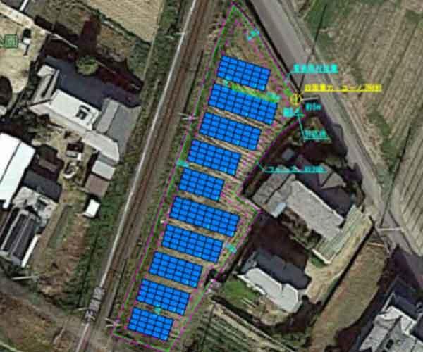 【18円】過積載79.36kW ローン可能 年収入約184万円 愛媛県松山市1181土地付き分譲太陽光発電物件